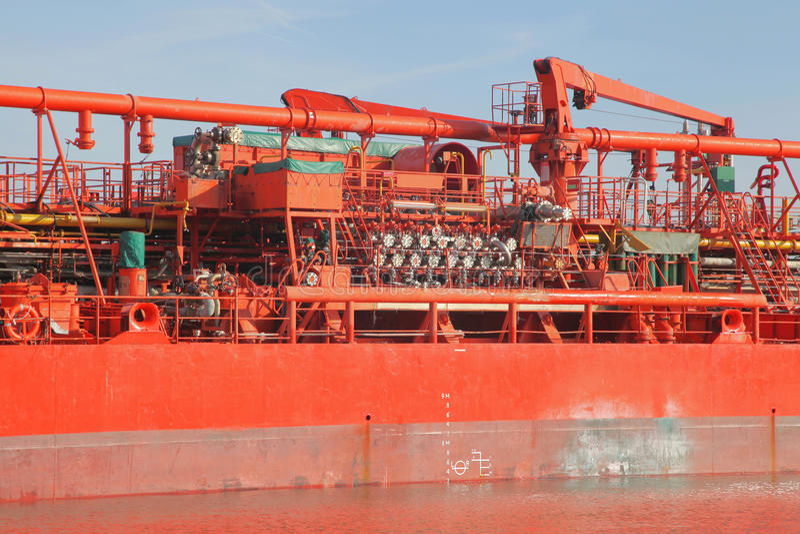 Detaljer av en tankfartyg royaltyfri fotografi