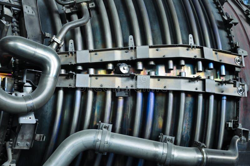 Detaljer av flygplanjetmotorn fotografering för bildbyråer