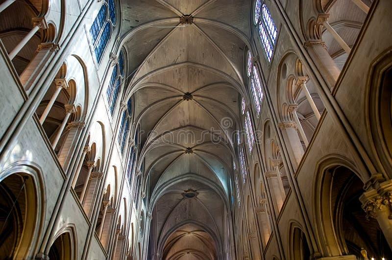 Detaljer av inre av Notre Dame de Paris royaltyfri fotografi