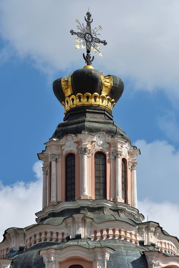 Detaljer av kyrkan av St Casimir i Vilnius fotografering för bildbyråer