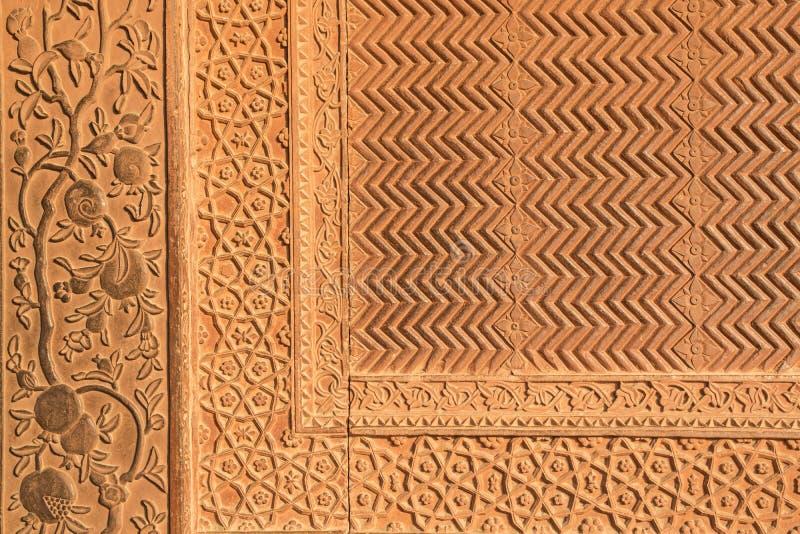 Detaljer av polerad sandstenyttersida. arkivfoto