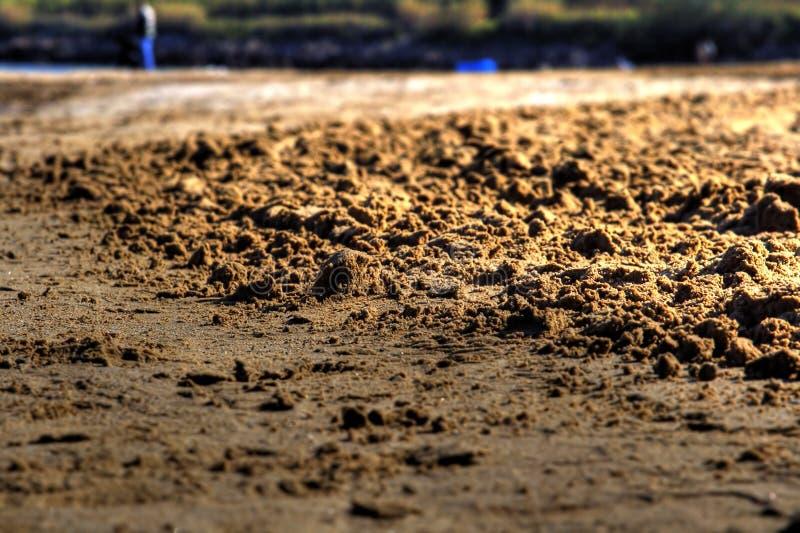 Detaljer av sanden eller grus royaltyfri foto
