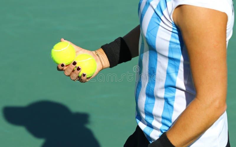 Detaljer av tennisspelareutrustning arkivbilder