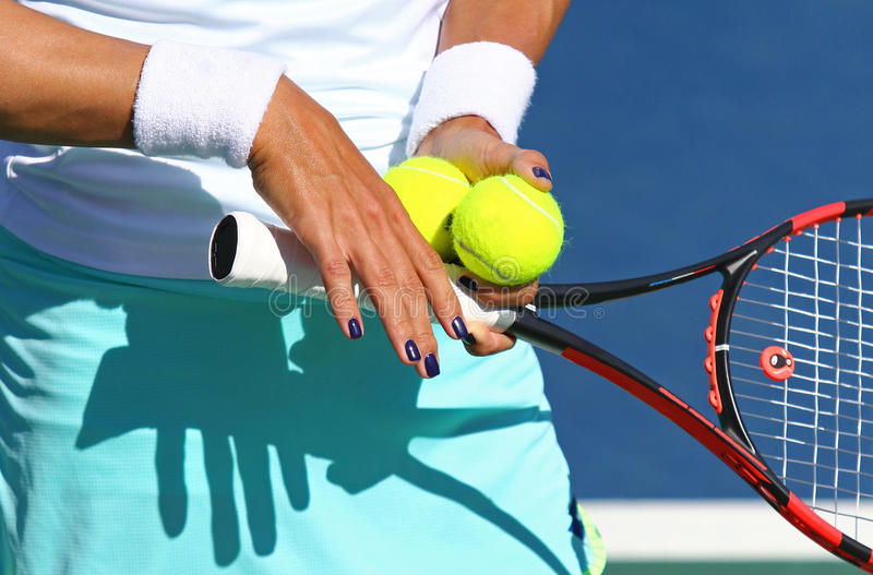 Detaljer av tennisspelareutrustning fotografering för bildbyråer