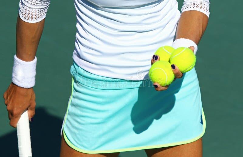 Detaljer av tennisspelareutrustning royaltyfri foto