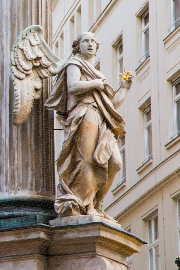 Detaljer av Vermahlungsbrunnen (förbindelse- eller bröllopspringbrunnen i Wien royaltyfri foto