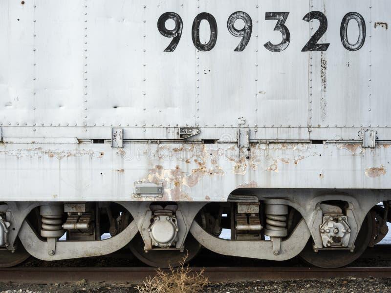 Detaljer för järnvägbil arkivfoto