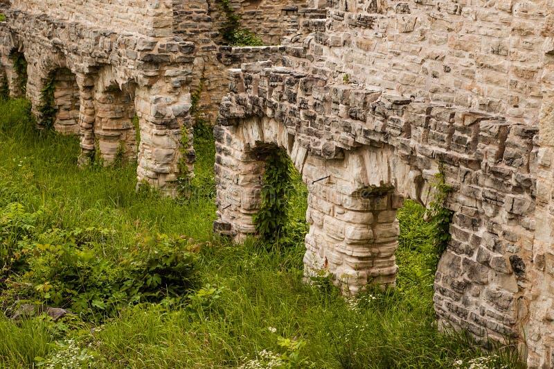 Detaljer för mummelmummelTonka slott royaltyfri fotografi