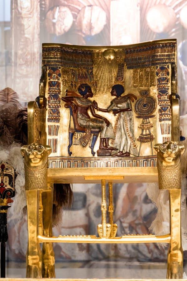 Detaljer från ett egyptiskt museum arkivfoton