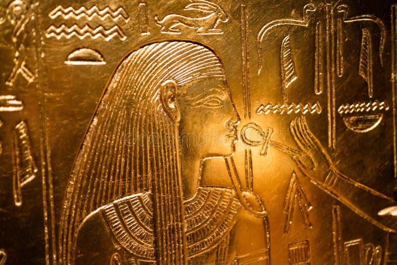 Detaljer från ett egyptiskt museum royaltyfria bilder