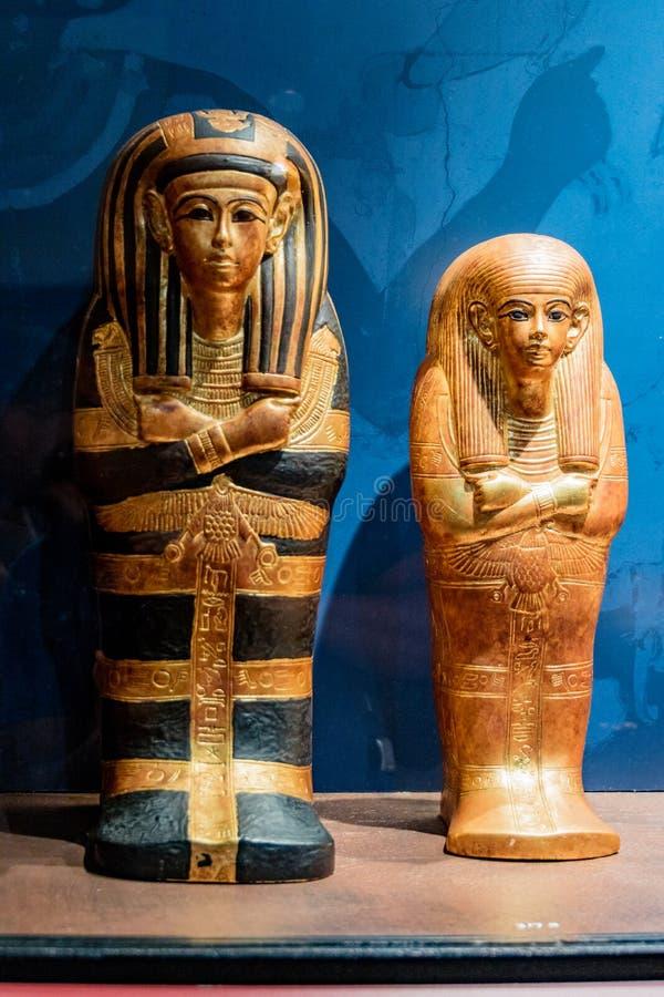 Detaljer från ett egyptiskt museum royaltyfri fotografi