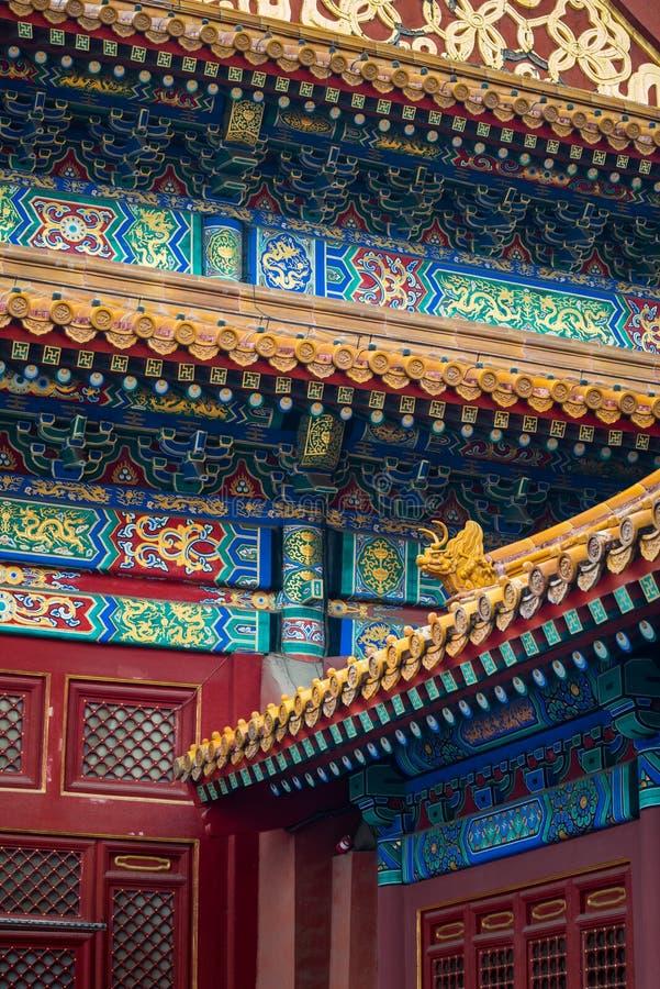Detaljer från Forbiddenet City arkivfoton
