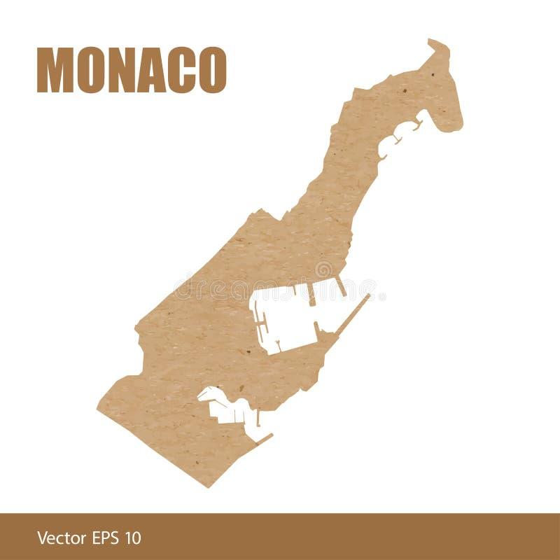 Detaljerad översikt av det Monaco snittet ut ur hantverkpapper vektor illustrationer