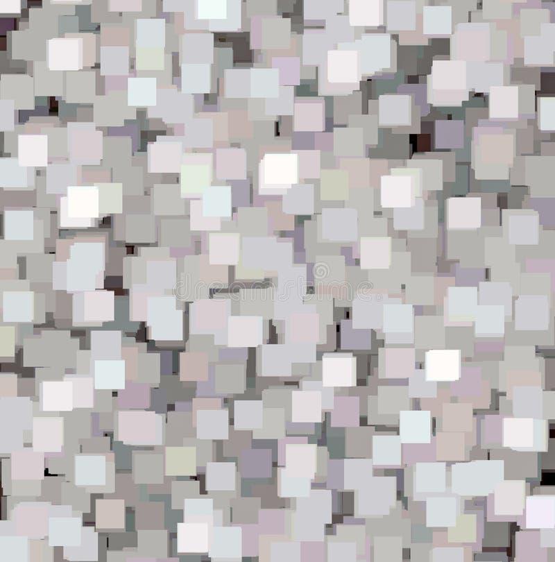 Detaljerad bakgrund för abstrakt begreppfyrkanttextur, grå färg, blå dekorativ modell för rosa färger royaltyfri bild