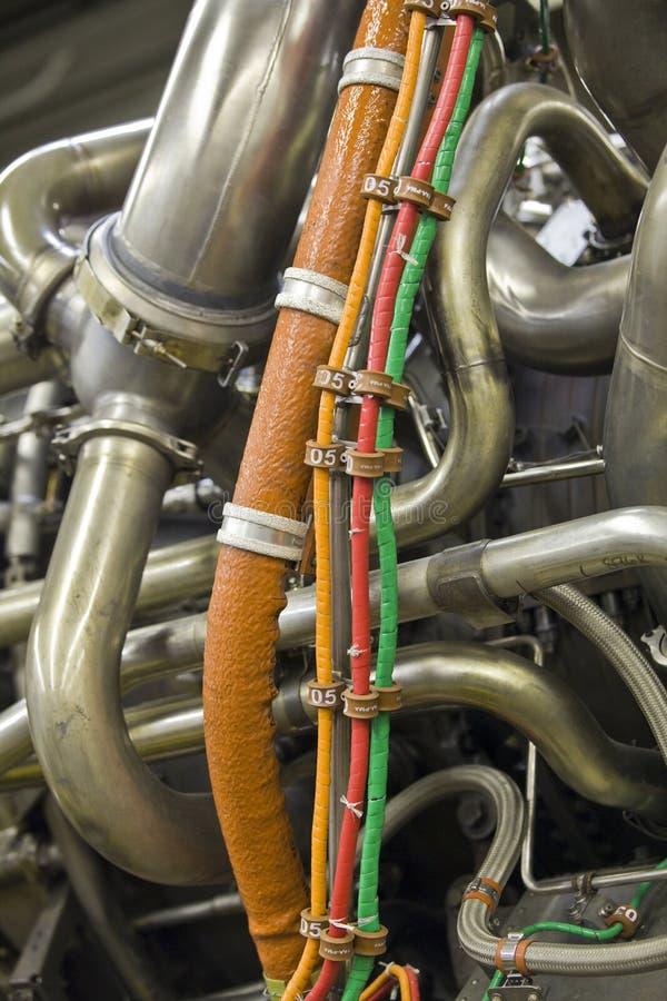 detaljerad motorexponeringsstråle royaltyfria foton