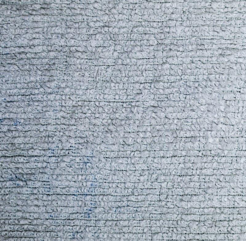 Detaljerad n?rbild f?r textur f?r tygfrott?torkduk bakgrund stilleben royaltyfri fotografi