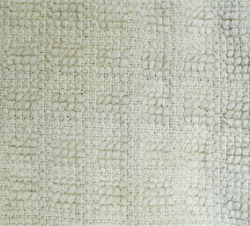 Detaljerad n?rbild f?r textur f?r tygfrott?torkduk bakgrund stilleben arkivbild