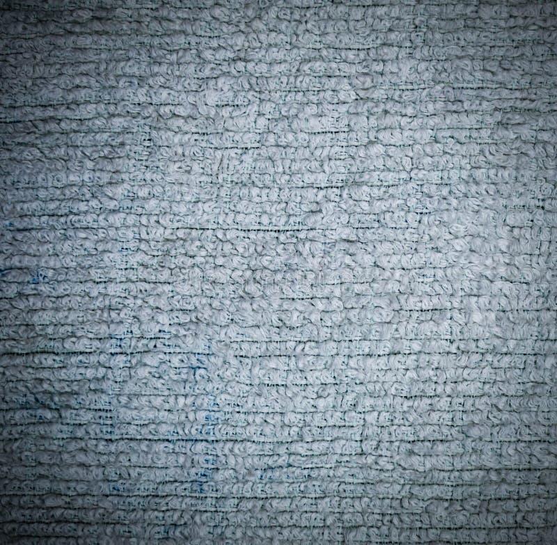 Detaljerad n?rbild f?r textur f?r tygfrott?torkduk med karakt?rsteckning bakgrund stilleben royaltyfri bild