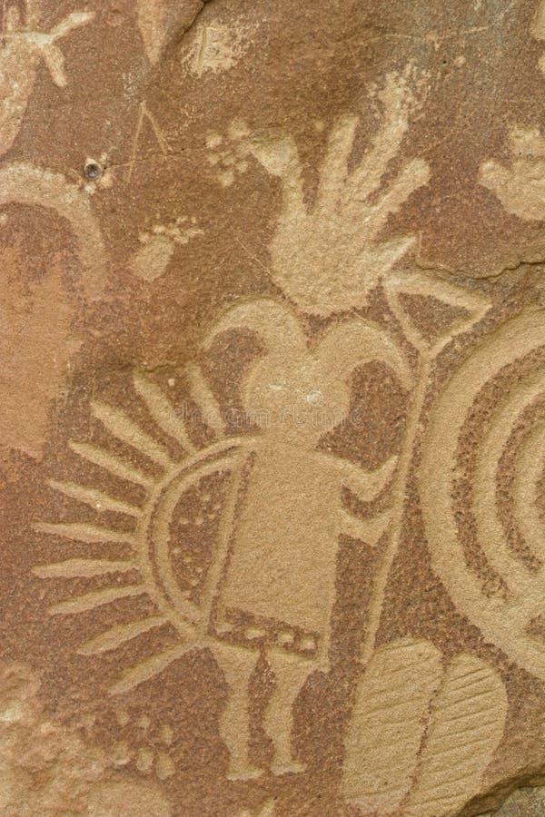 detaljerad petroglyph royaltyfri fotografi