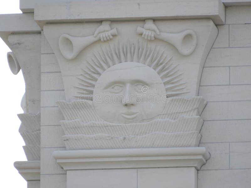 Detaljerad sikt av den Nauvoo Illinois templet Sunstone arkivfoto