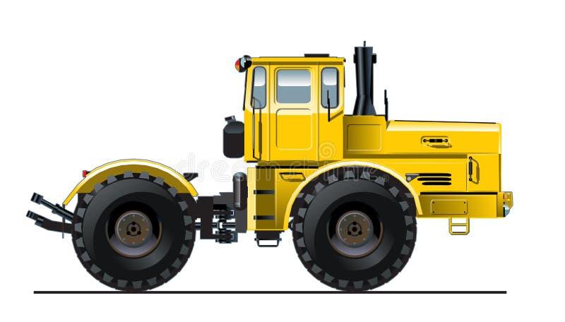 Detaljerad traktor för vektor royaltyfri illustrationer