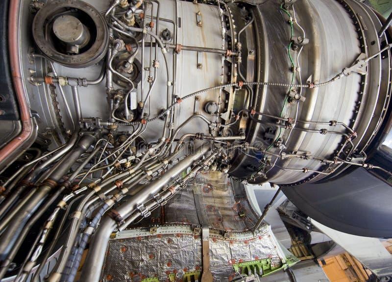 detaljerad turbin för motorexponeringsstråle royaltyfria foton