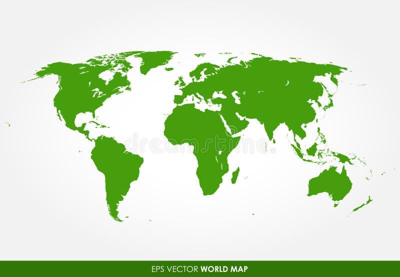 Detaljerad världskarta vektor illustrationer