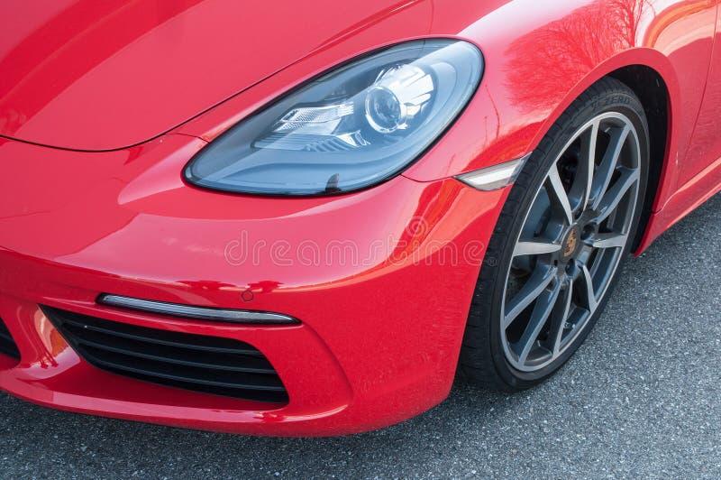 detaljhandel av den Porsche 718 boxsteren royaltyfria bilder