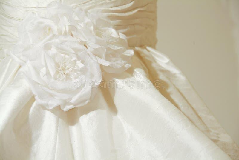 detaljklänningbröllop royaltyfri foto
