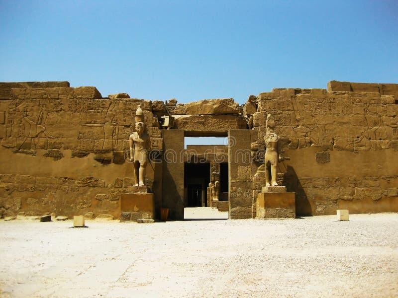 detaljluxor tempel arkivfoto