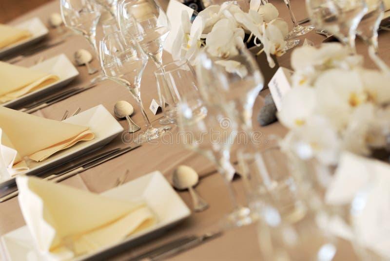 detaljtabellbröllop royaltyfria foton