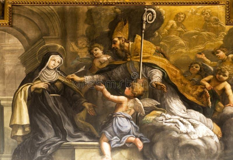 detaljväggmålningmålarfärg royaltyfri bild