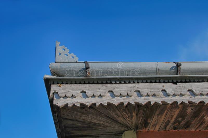 Detalla europa típico del est del tejado foto de archivo