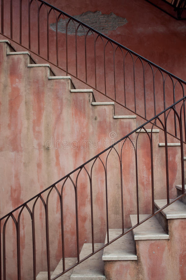 detalle abstracto de escaleras rsticas
