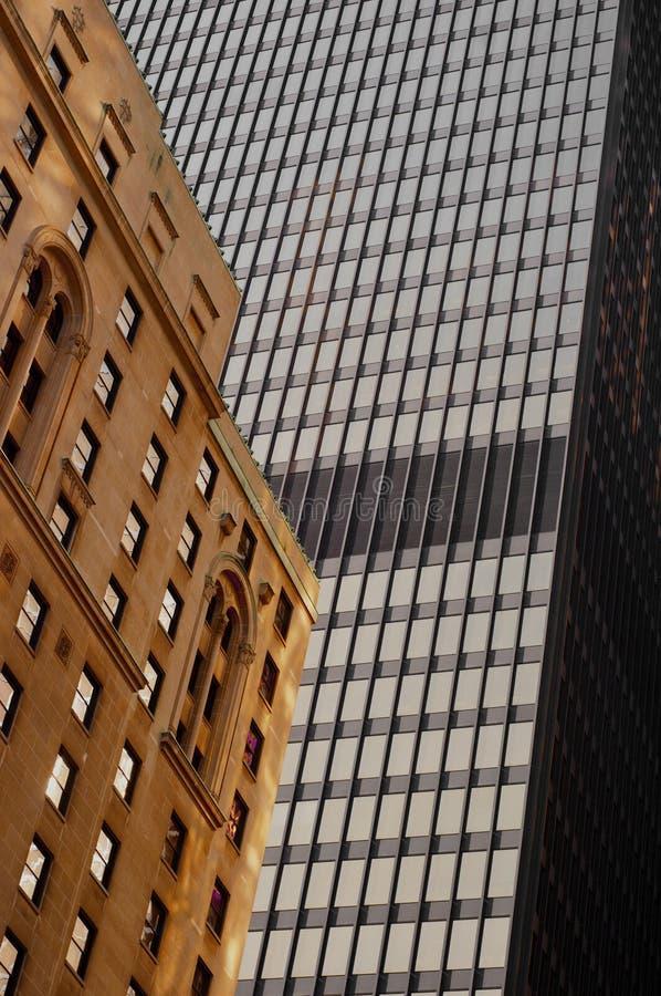 Detalle abstracto de la arquitectura de los edificios de Toronto imágenes de archivo libres de regalías