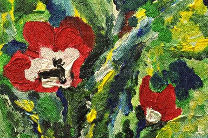 Detalle abstracto de la pintura colorida ilustración del vector