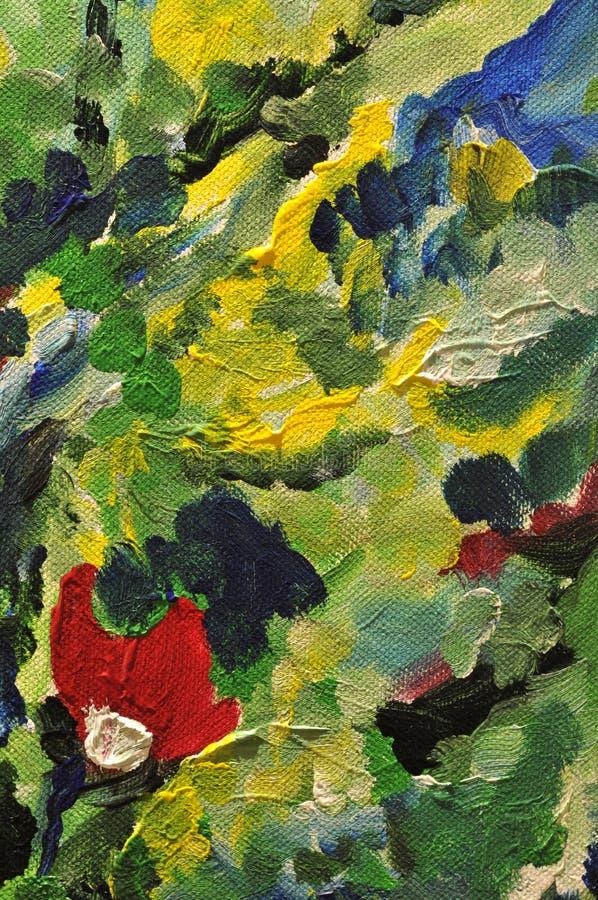 Detalle abstracto de la pintura colorida stock de ilustración