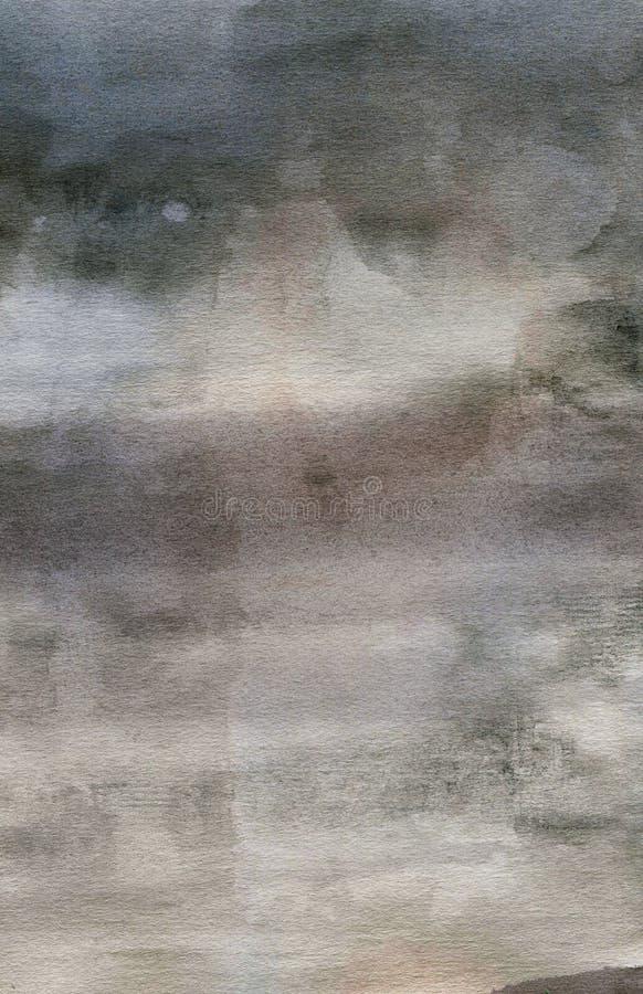 Detalle abstracto de la textura de la acuarela del grunge fotografía de archivo