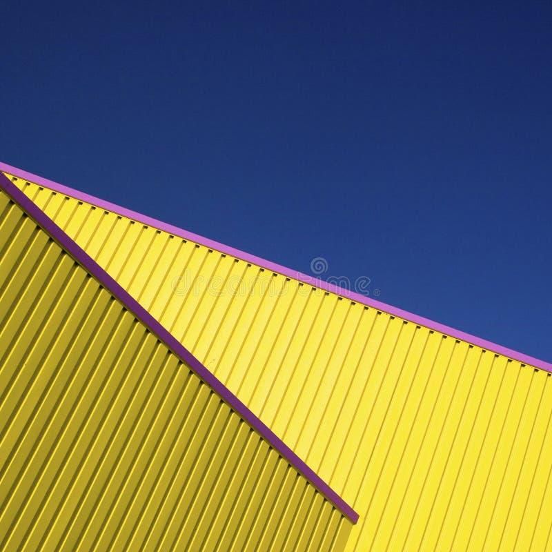 Detalle amarillo de la configuración foto de archivo