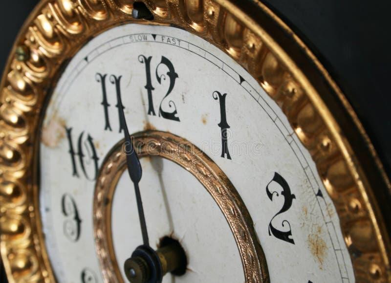 Detalle antiguo del reloj foto de archivo