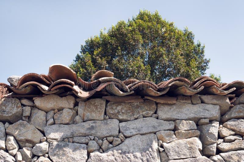 Detalle arquitectónico de la casa antigua de la piedra imagen de archivo libre de regalías