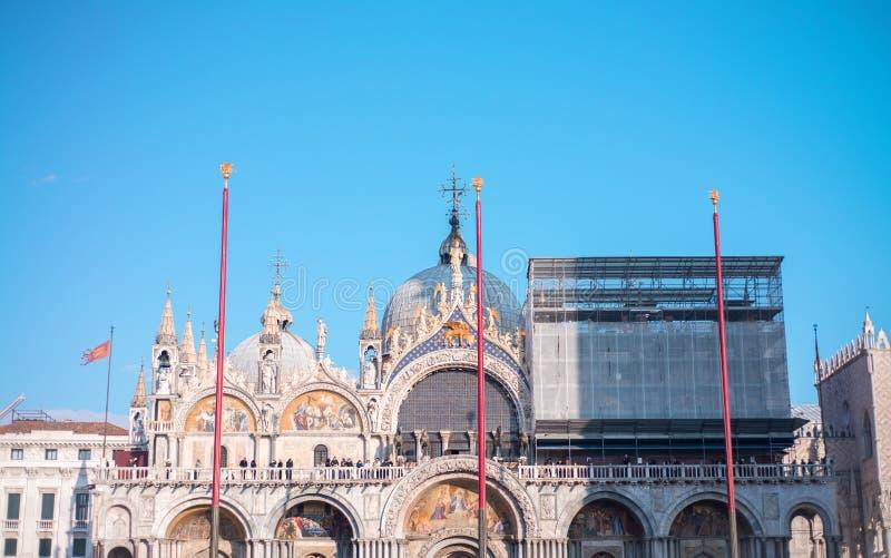 Detalle arquitectónico de St Mark Square, Venecia imágenes de archivo libres de regalías