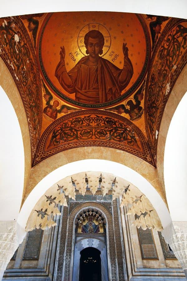 Detalle arquitectónico del monasterio de Arges imágenes de archivo libres de regalías