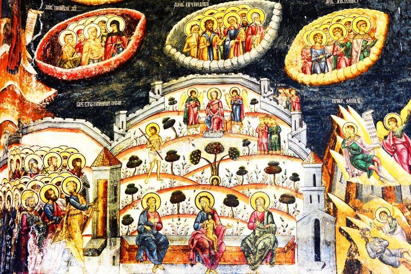 Detalle arquitectónico del monasterio de Cozia fotografía de archivo libre de regalías