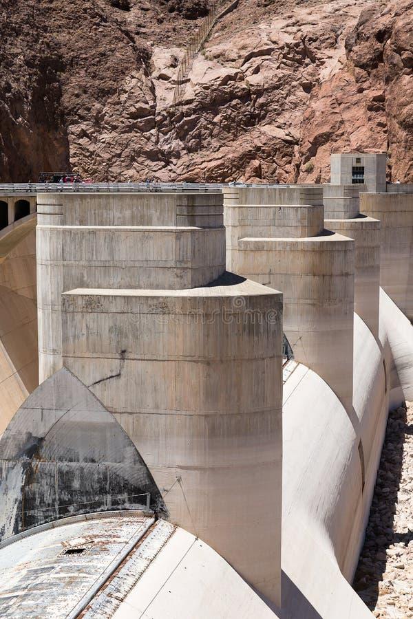 Detalle arquitectónico en la Presa Hoover, Arizona, Nevada, los E.E.U.U. fotos de archivo