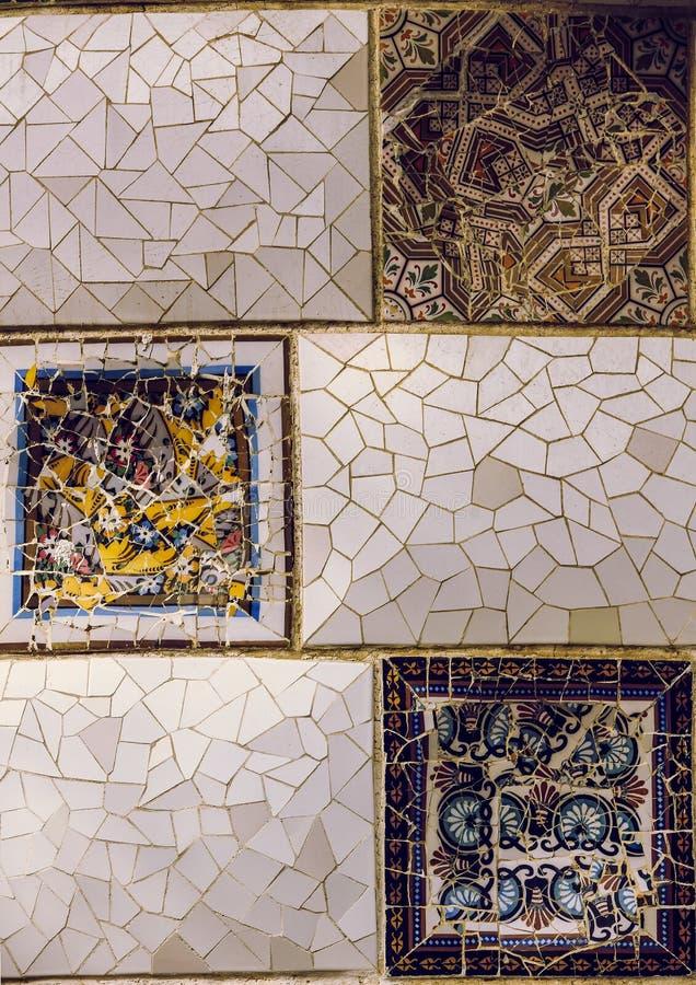 Detalle ascendente cercano de un mosaico geom?trico fotografía de archivo libre de regalías