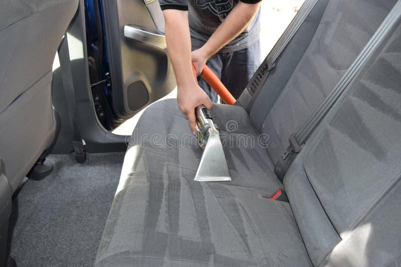 Detalle auto de la tapicería profesional fotos de archivo