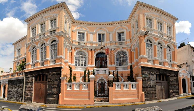 Detalle colonial de la arquitectura, Quito, capital de imagenes de archivo