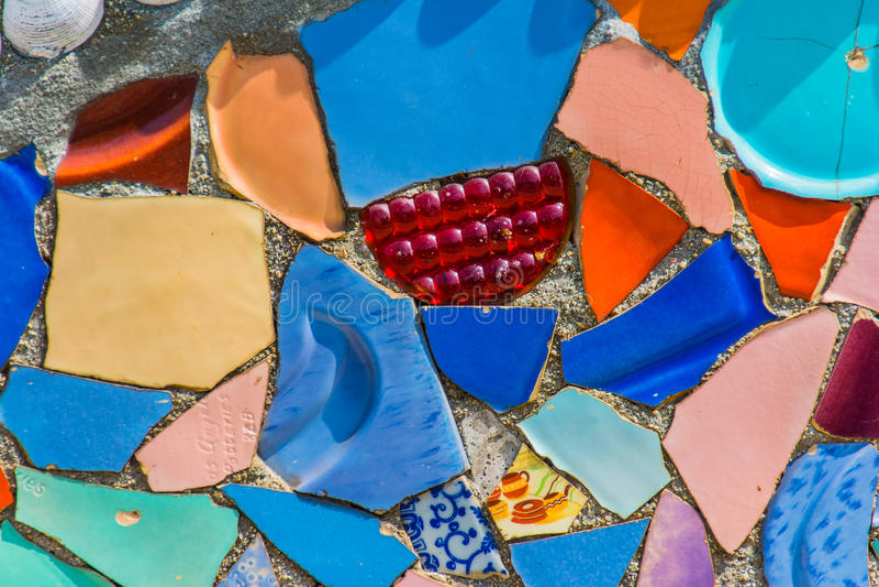 Detalle colorido de la pared de la cerámica fotos de archivo