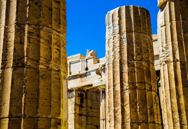 Detalle - columna iónica griega imagenes de archivo